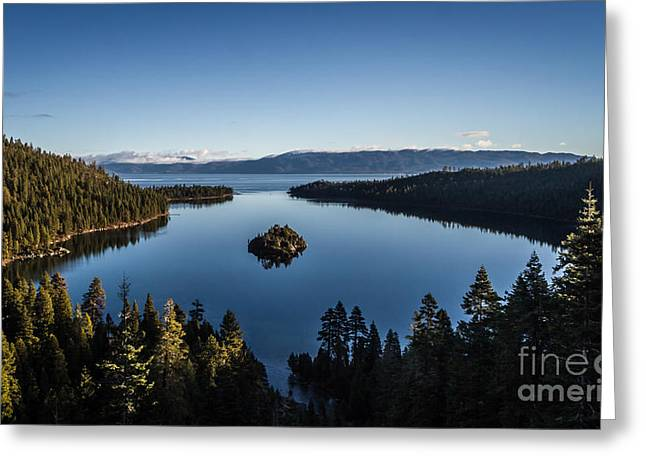 A Generic Photo Of Emerald Bay Greeting Card by Mitch Shindelbower
