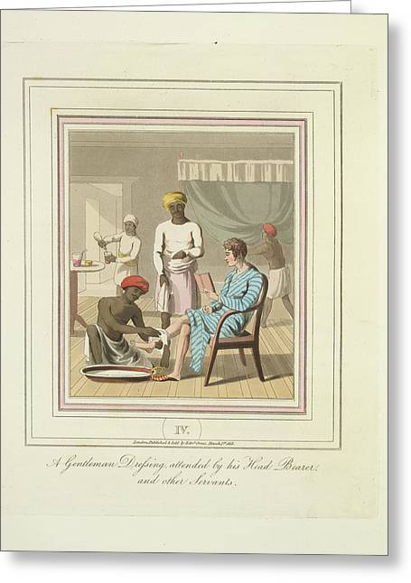 A Gentleman Dressing Greeting Card by British Library
