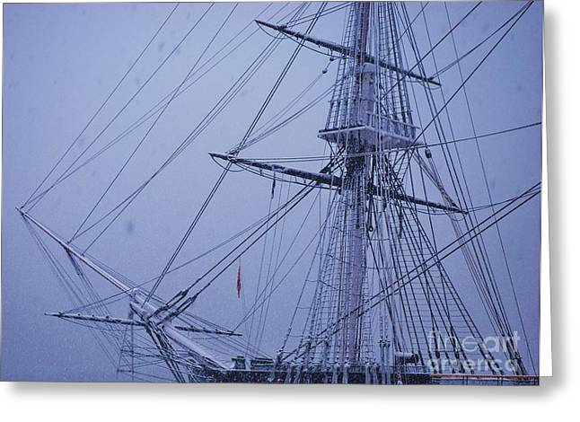 Tall Ship Greeting Cards - A Ghostly Ship Greeting Card by Marcus Dagan