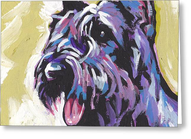 Schnauzer Greeting Cards - A Giant Greeting Card by Lea