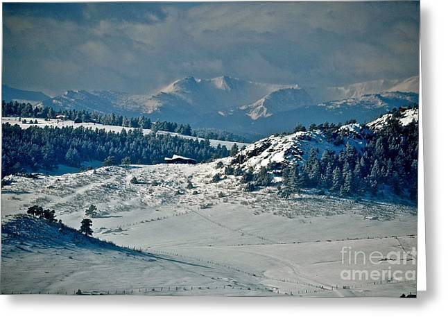 Mummy Range Greeting Cards - A Glacier View  Greeting Card by Susan Chesnut
