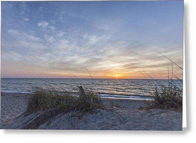 Evans Greeting Cards - A Glass of Sunrise Greeting Card by Jon Glaser