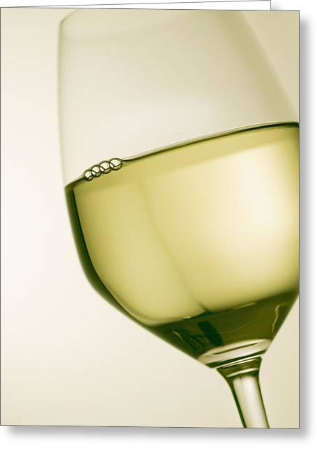 Goblet Greeting Cards - A Glass Of White Wine Greeting Card by Richard Desmarais