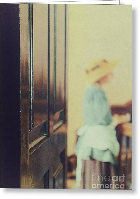 Wooden Stairs Greeting Cards - A Glimpse Inside Greeting Card by Margie Hurwich
