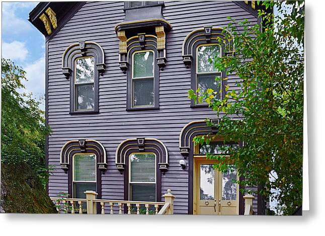 A glimpse into Old Town Chicago Greeting Card by Christine Till