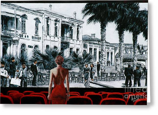Classic Hollywood Mixed Media Greeting Cards - A Glimpse Into The Past Greeting Card by Theo Michael