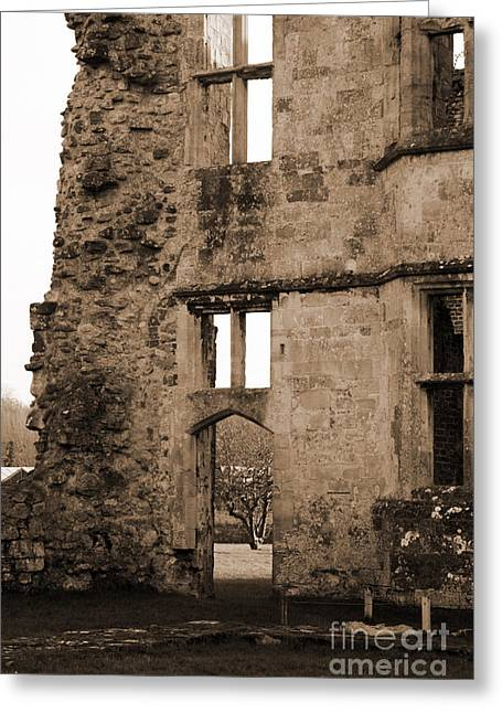 A Glimpse Of Titchfield Abbey Orchard Greeting Card by Terri Waters