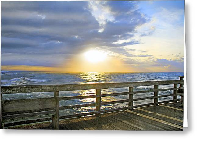 Topsail Island Greeting Cards - A Glorious Moment Greeting Card by Betsy C  Knapp