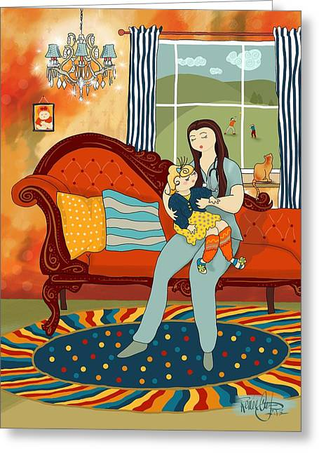 Chaise Digital Art Greeting Cards - A Godmother For Sugarfoot Greeting Card by Renee Ciufo