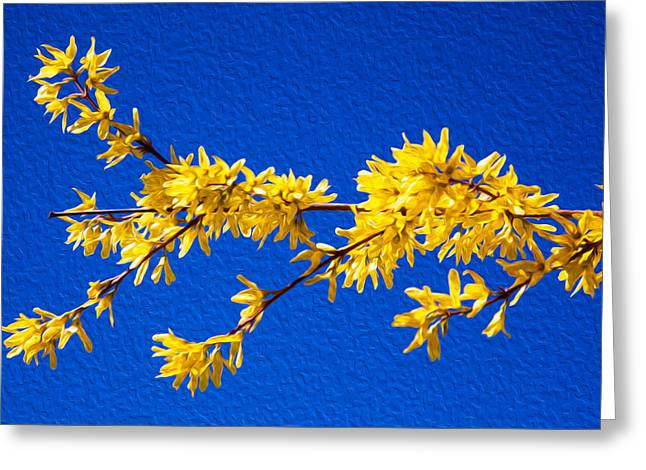 A Golden Afternoon Greeting Card by Omaste Witkowski