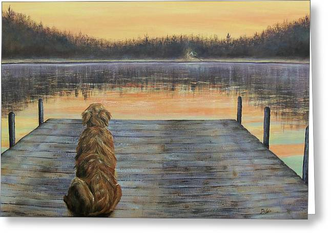 Best Friend Greeting Cards - A Golden Moment Greeting Card by Susan DeLain