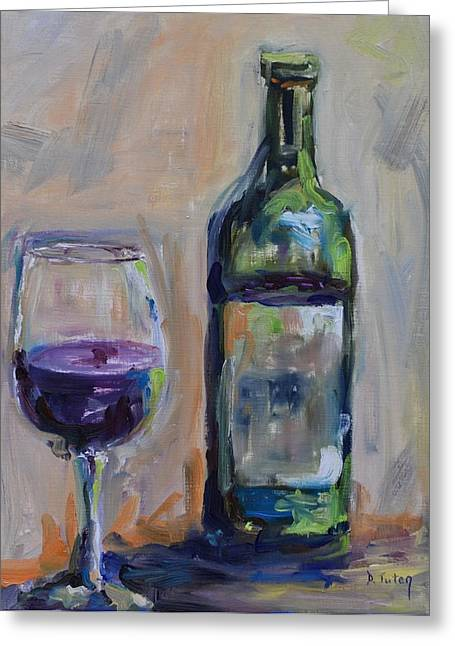 Virginia Wine Art Greeting Cards - A Good Pour Greeting Card by Donna Tuten