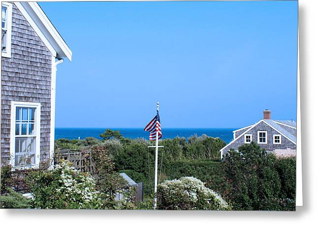 Sea Photographs Greeting Cards - A Gorgeous View On Nantucket II Greeting Card by Images by Stephanie