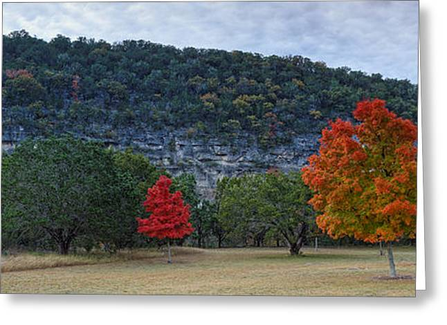 Parks And Wildlife Greeting Cards - A great day for a picnic Lost Maples Texas Hill Country Greeting Card by Silvio Ligutti