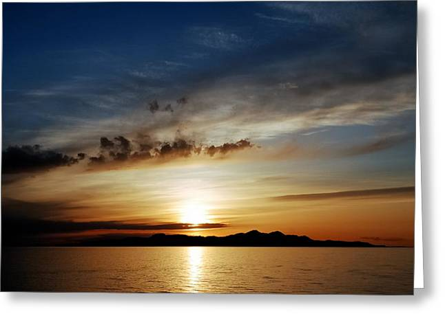 Special Moment Greeting Cards - A Great Salt Lake Sunset Greeting Card by Steven Milner