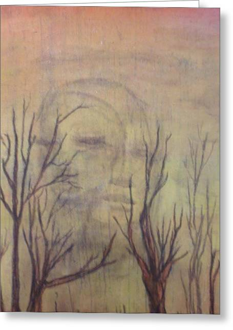 Mystical Landscape Mixed Media Greeting Cards - A Greater Depth Greeting Card by Laura Walker