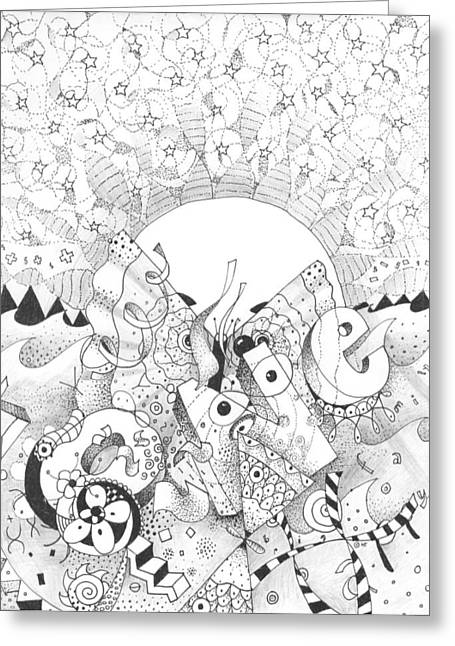Gaia Drawings Greeting Cards - A Greater Understanding Greeting Card by Helena Tiainen