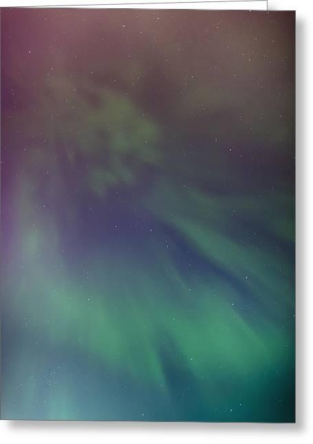 Tony Knowles Coastal Trail Greeting Cards - A Green Aurora Borealis Corona Greeting Card by Kevin Smith