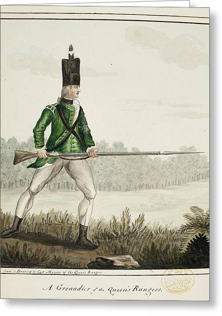 A Grenadier Of The Queen's Rangers Greeting Card by British Library