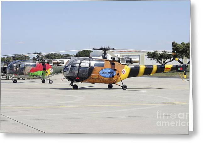 Utility Aircraft Greeting Cards - A Group Of Alouette Iii Utility Greeting Card by Timm Ziegenthaler