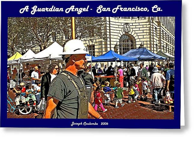 Playing Angels Digital Greeting Cards - A Guardian Angel  Greeting Card by Joseph Coulombe