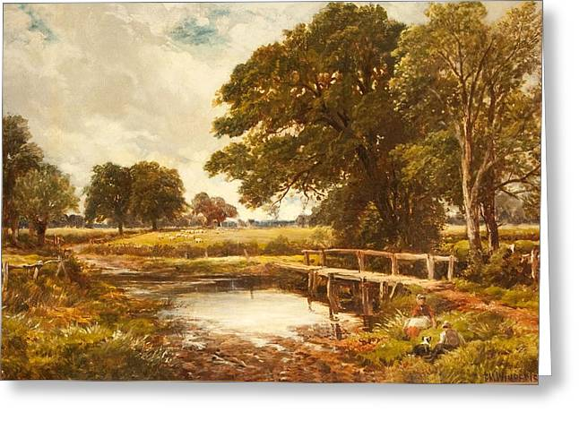 Hampshire Greeting Cards - A Hampshire Ford, 1891 Greeting Card by Edmund Morison Wimperis