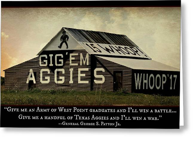College Spirit Greeting Cards - A Handful of Aggies Greeting Card by Stephen Stookey