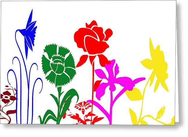 Installation Art Greeting Cards - A Happy Garden Greeting Card by Tina M Wenger