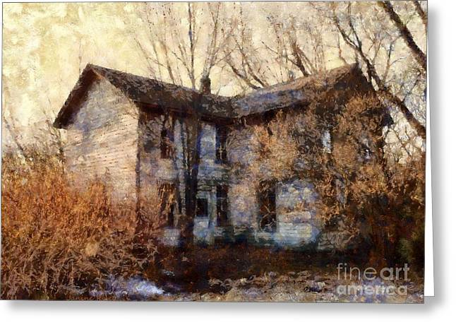 Abandoned Houses Greeting Cards - A Haunting Melody - Old Farmhouse Greeting Card by Janine Riley