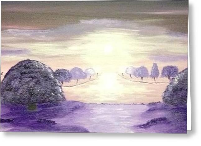 Scott Wilmot Greeting Cards - A haze of purple Greeting Card by Scott Wilmot
