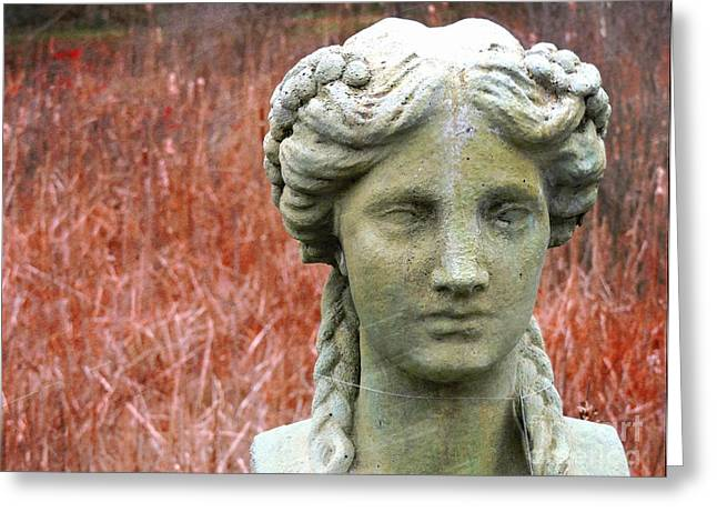 Statue Portrait Greeting Cards - A Head Above All Greeting Card by Marcia Lee Jones