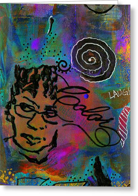 Mystic Art Greeting Cards - A HEALING Potion Called COLOR Greeting Card by Angela L Walker