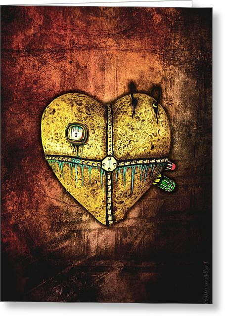 Biological Digital Greeting Cards - A Heart Less Broken Greeting Card by Marianne Gilliand