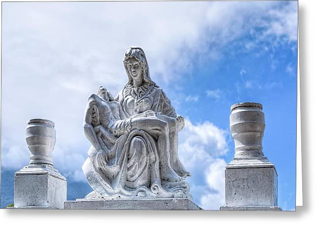 Passion Of The Christ Greeting Cards - A Heavenly Pieta in Nicaragua Greeting Card by Mark Tisdale