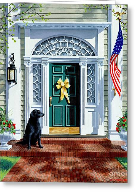 Veterans Memorial Paintings Greeting Cards - A Heros Welcome  Greeting Card by Michael Swanson