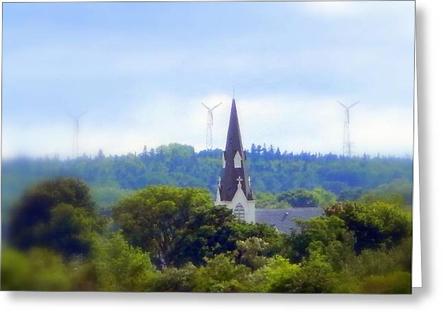 Generators Greeting Cards - A higher power Greeting Card by Karen Cook