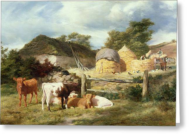 A Highland Croft, 1873 Greeting Card by Peter Graham