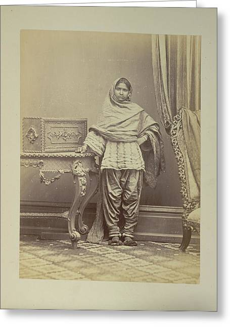 A Hindu Girl From Sindh Greeting Card by British Library