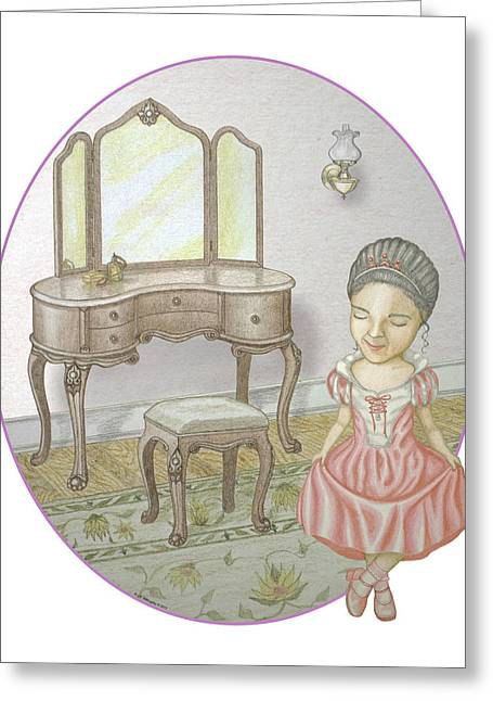 Oil Lamp Drawings Greeting Cards - A Hint of Pink Greeting Card by James Willoughby III