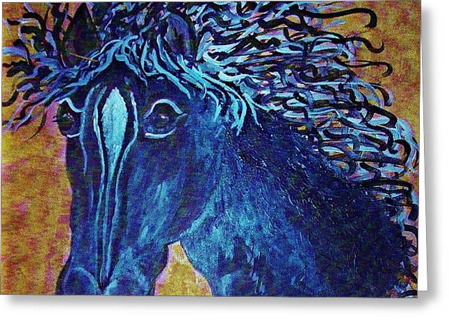 A Horse Named Whimsy Greeting Card by Eloise Schneider
