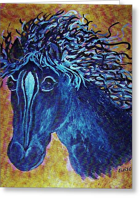 Stallion Greeting Cards - A Horse Named Whimsy Greeting Card by Eloise Schneider