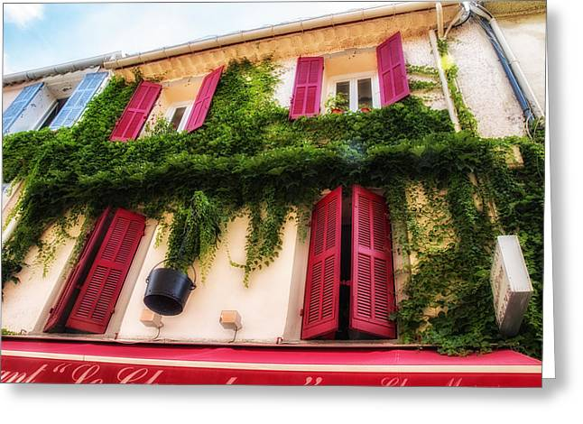 South Of France Greeting Cards - A House in the South of France Greeting Card by Nomad Art And  Design