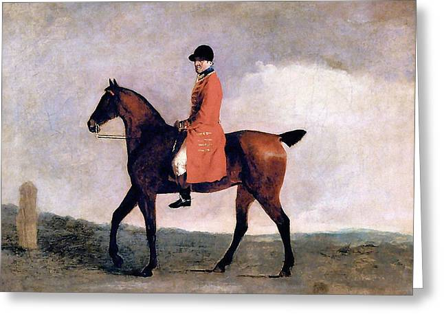A Hunt Servant Greeting Card by Charlie Ross