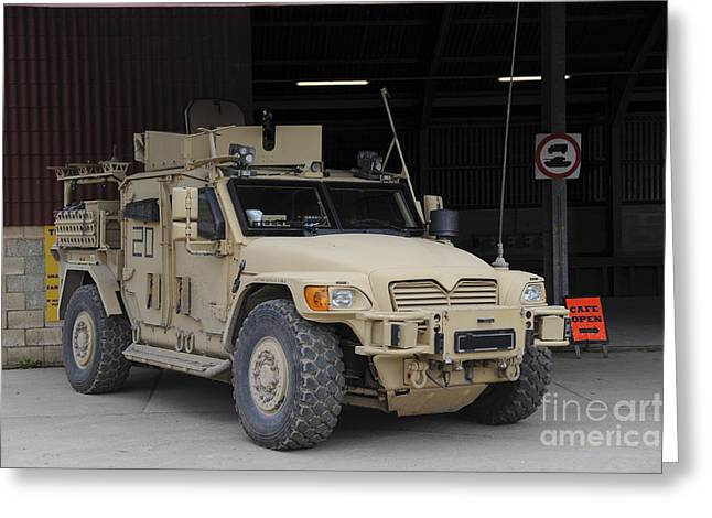 Husky Greeting Cards - A Husky Tsv Armored Vehicle Greeting Card by Andrew Chittock