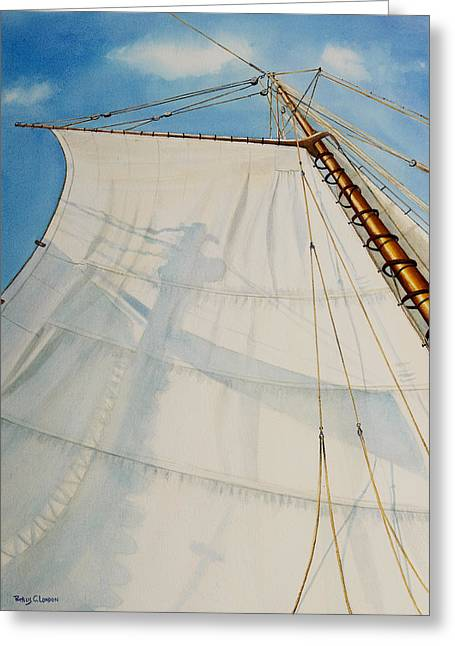 Recently Sold -  - Schooner Greeting Cards - A. J. Meerwald Clear Day Greeting Card by Phyllis London