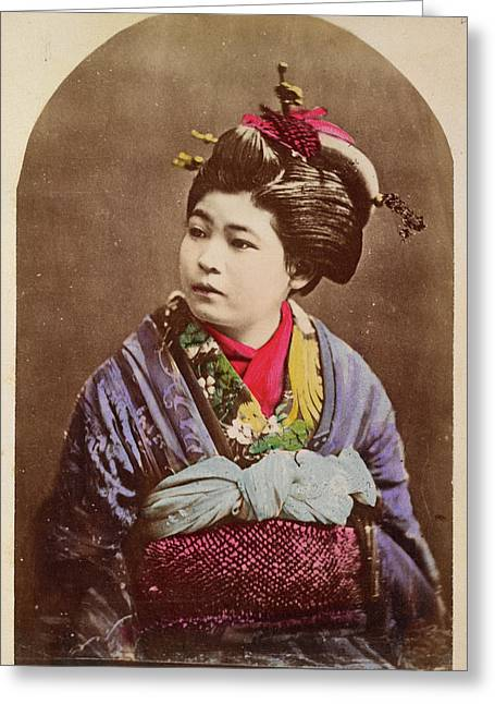 A Japanese Lady Greeting Card by British Library