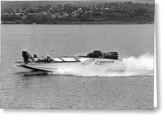A Jet Powered Speed Boat Made By Boeing Greeting Card by Underwood Archives