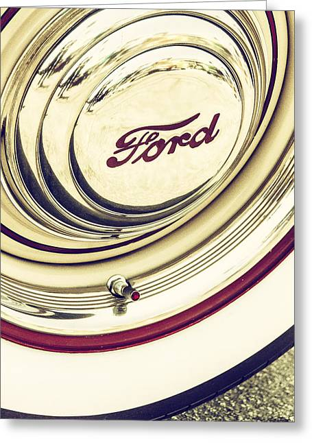 Hubcap Greeting Cards - A Jewel  Greeting Card by Caitlyn  Grasso