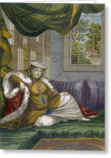 Nations Greeting Cards - A Jewish Woman In Ceremonial Dress Greeting Card by French School