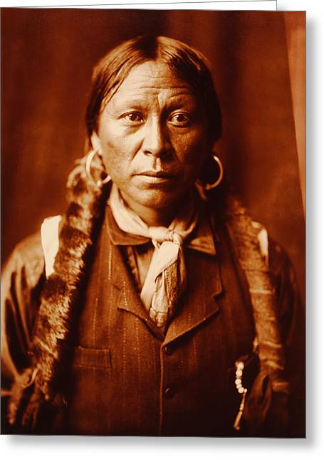 Indian Princess Greeting Cards - A Jicarilla Man Native American  Greeting Card by Edward S Curtis